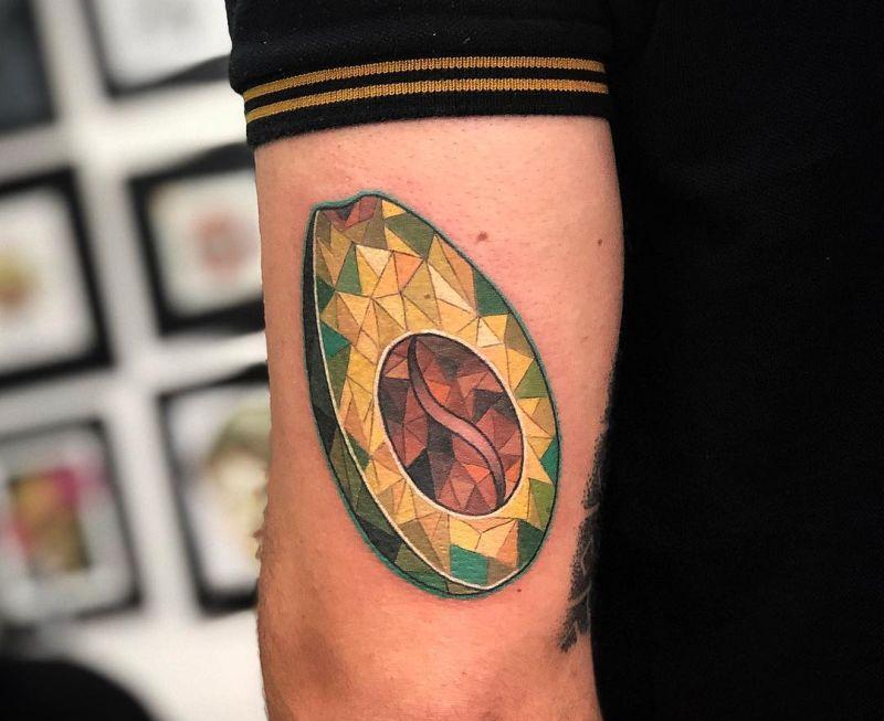 Diamond Avocado Tattoo