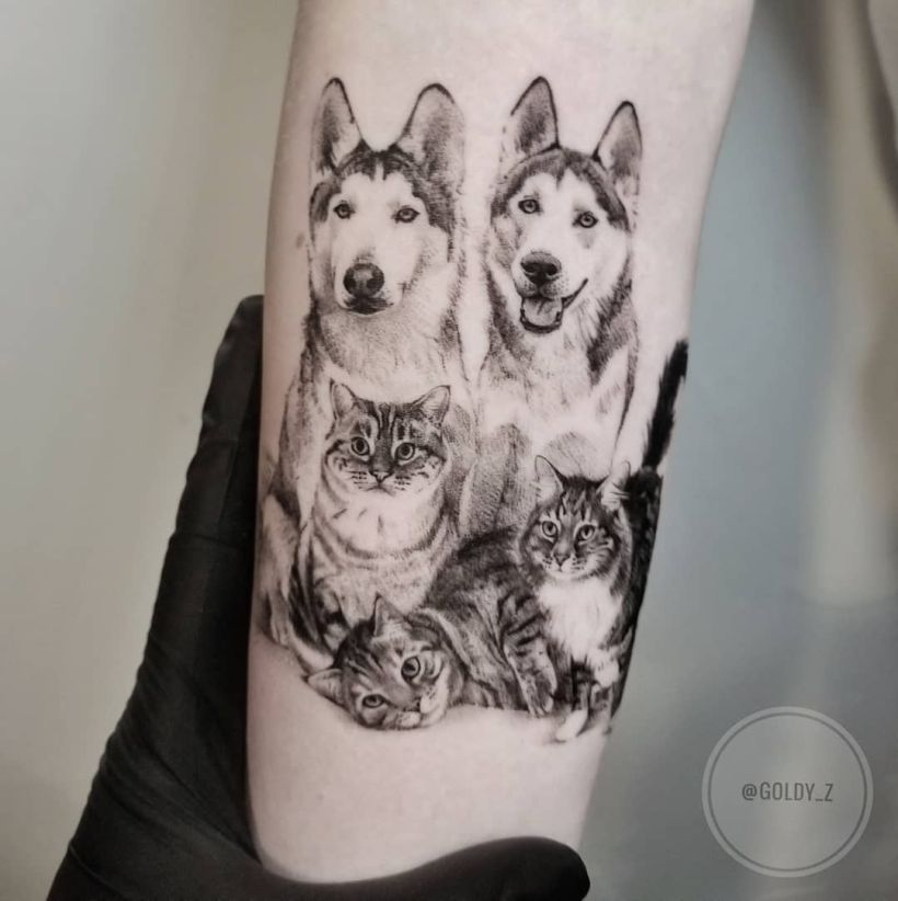 Pet family tattoo Zlata Kolomoyskaya