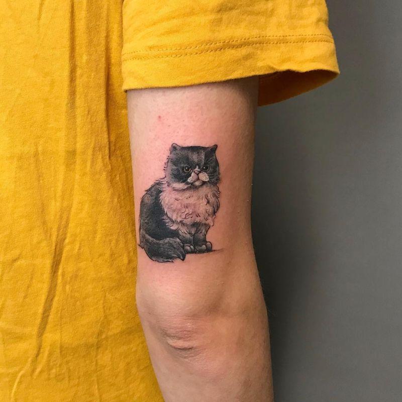 cute cat tattoo