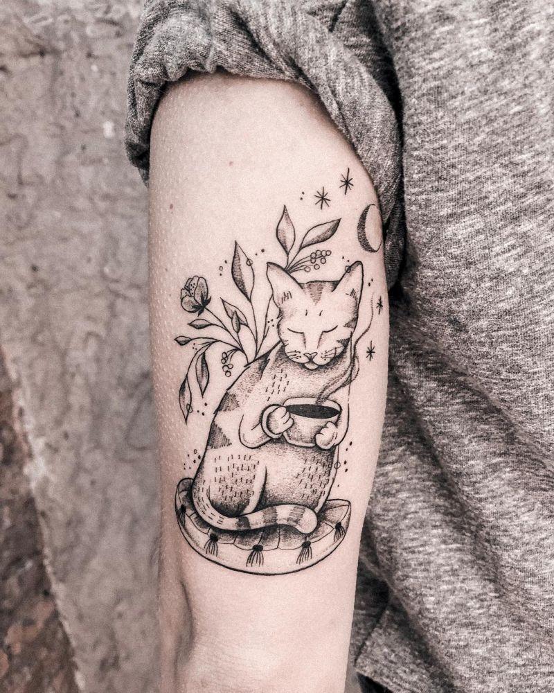 cute cat tattoo ideas