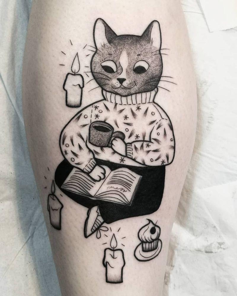 beautiful cat tattoos