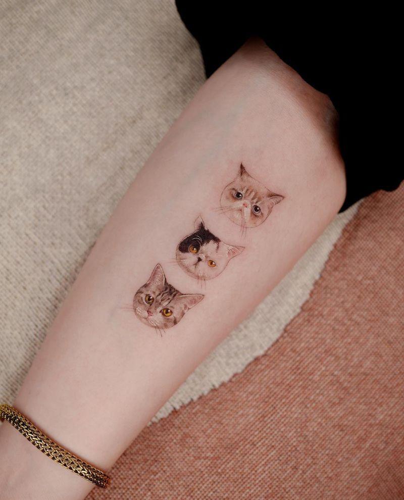 minimalist cat tattoos