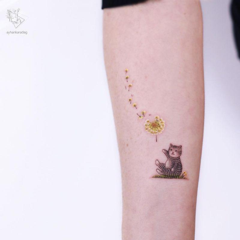 super cute cat tattoos