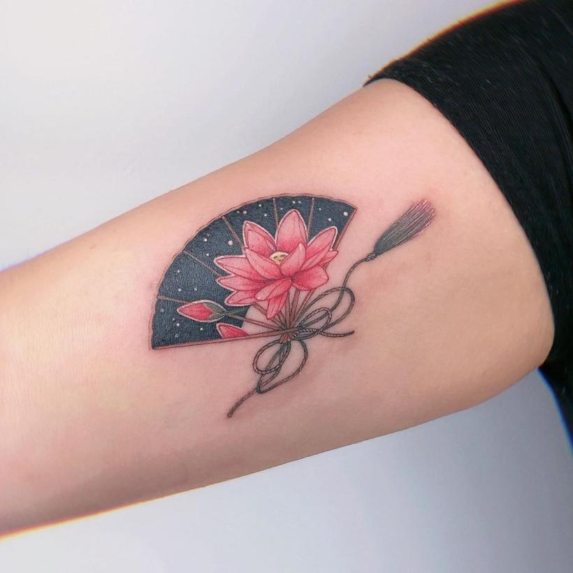 creative lotus tattoos