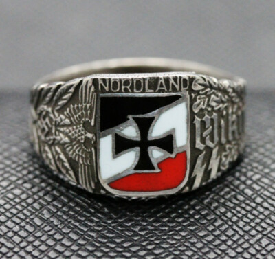 German ss ring WIKING NORDLAND SILVER