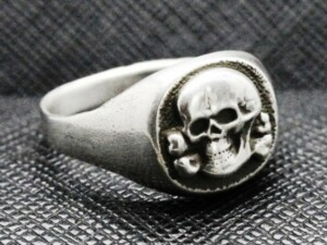 SS totenkopf ring german nazi ring skull