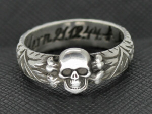 SS TOTENKOPF Ring silver Geldern