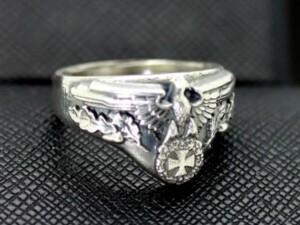 German iron cross ww2 eagle ring