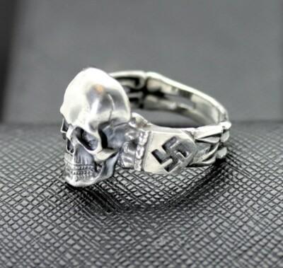 SS Death Head ring German rings German skull ring