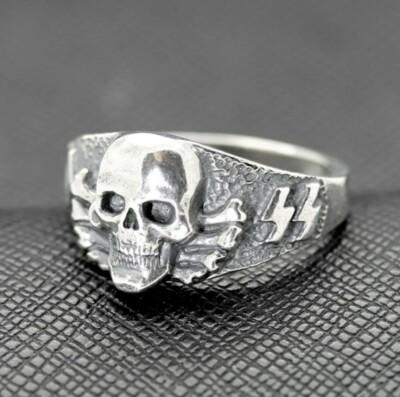 SS Death Head ring German rings German skull ring Totenkopf