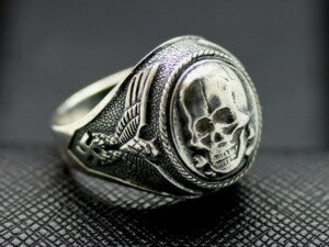 WW II SS Death Head ring German rings skull ring
