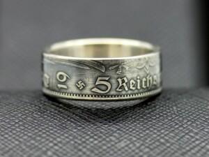 German coin ring 1935 year 5 reichsmark