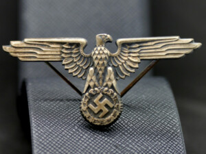 German WW2 Eagle from SS cap Silver