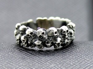 SKULL GERMAN RING SS TOTENKOPF SILVER GREAT SKULLS