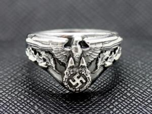 German ring ww2 eagle swastika