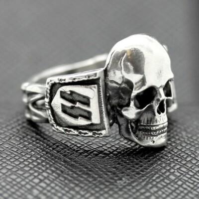 SS Death Head ring German rings German skull ring swastika