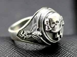 WWII SS Death Head ring German rings skull waffen totenkopf