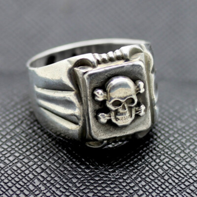 GERMAN SS RING TOTENKOPF RING silver skull