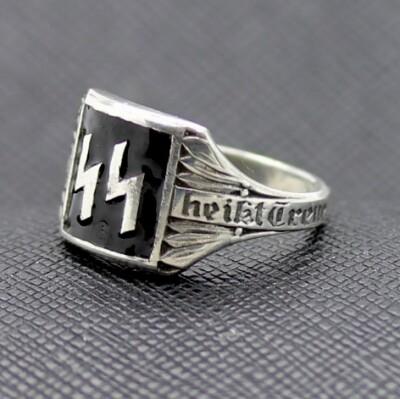 DEUTSCHE NAZI WAFFEN SS SILBERRING