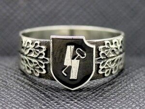 RING SS 12TH PANZER DIVISION HITLERJUGEND SILVER