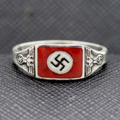 WW2 German NSDAP sterling silver ring