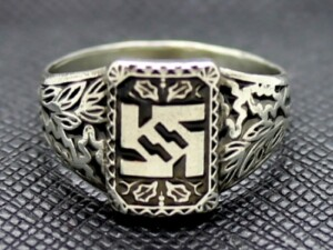 WW2 WAFFEN SS Silver RING SS