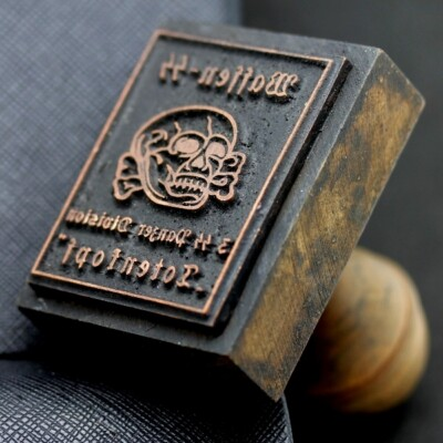 German SS stamp of the Third Reich Totenkopf