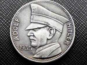 German Adolf Hitler 5 RM Coin or Medal 1935