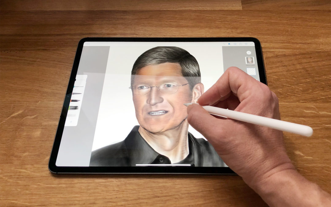 How to draw a portrait with Apple Pencil