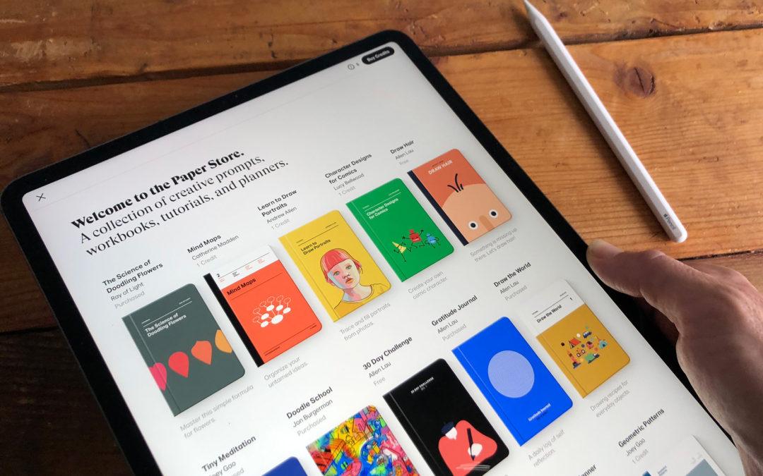 iPad sketch app Paper adds brilliant creative templates [Cult of Mac]