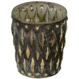 Black gold tealight