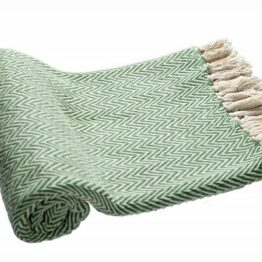green zigzag throw