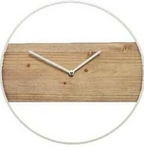 White Wood Clock