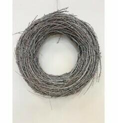 Washed Grey Twig Circular Wreath