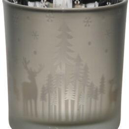 Silver Reindeer Silhoutte Tealight