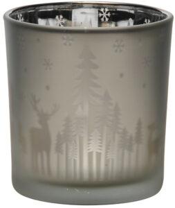 Silver Reindeer Silhouette Tealight
