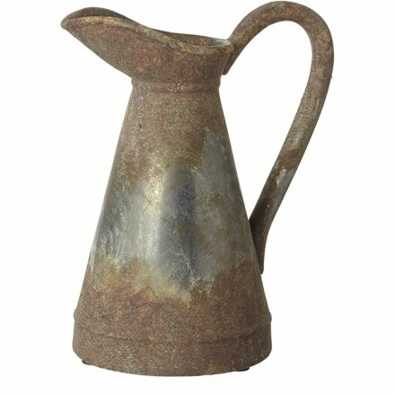 Large Rusty Metal Jug