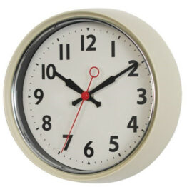 Retro Cream Wall Clock