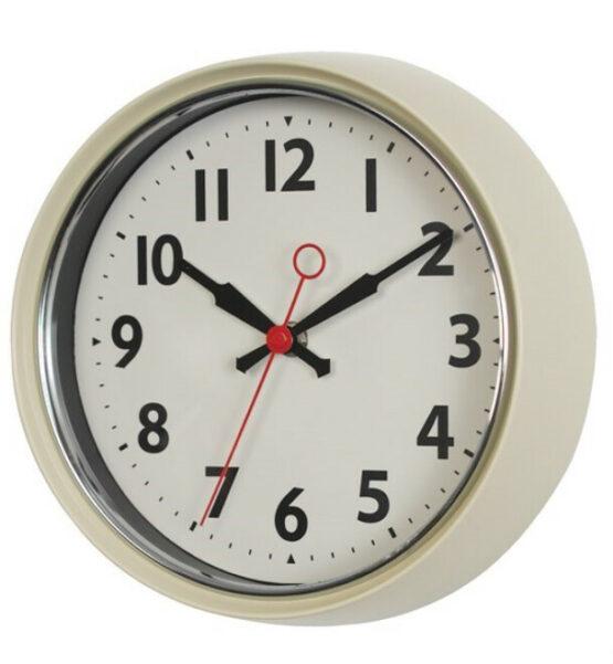 Retro Cream Wall Clock