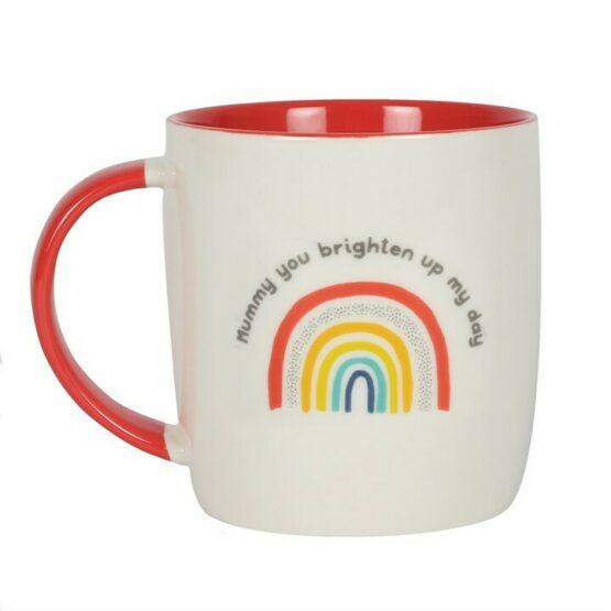 Mummy You Brighten My Day Rainbow Mug