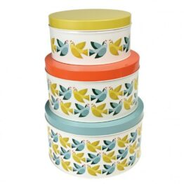 Rex London Lovebirds Set of 3 Nesting Cake Tins