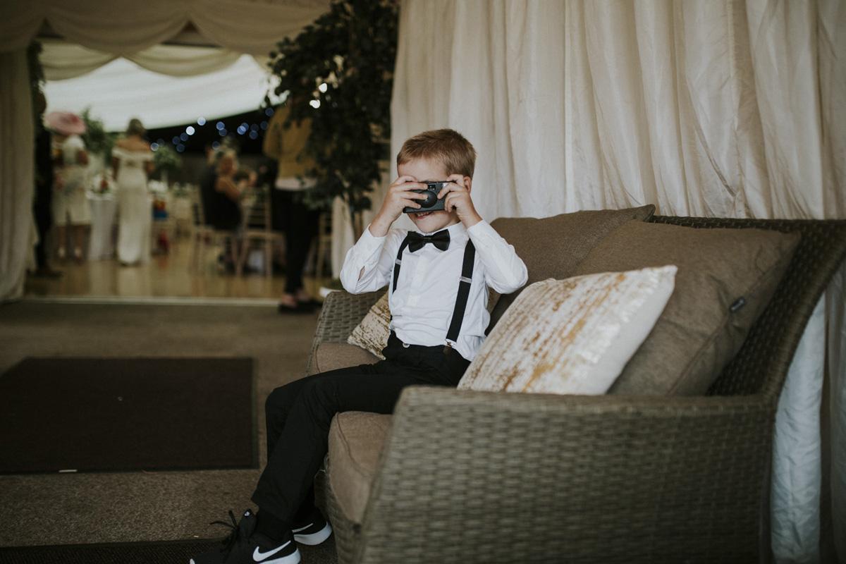 boy taking photo
