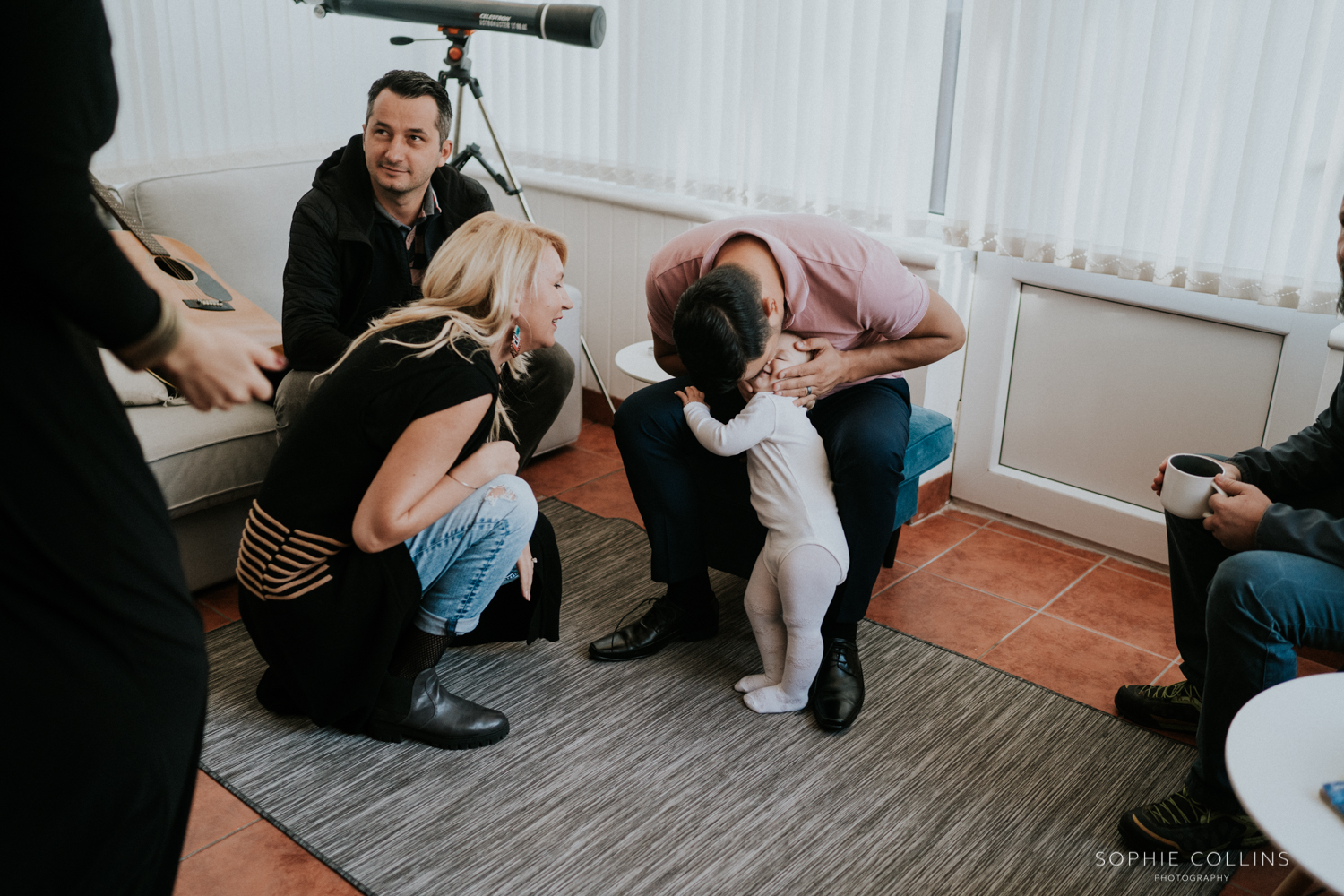 guests and baby