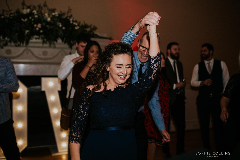 sister of the bride dancing
