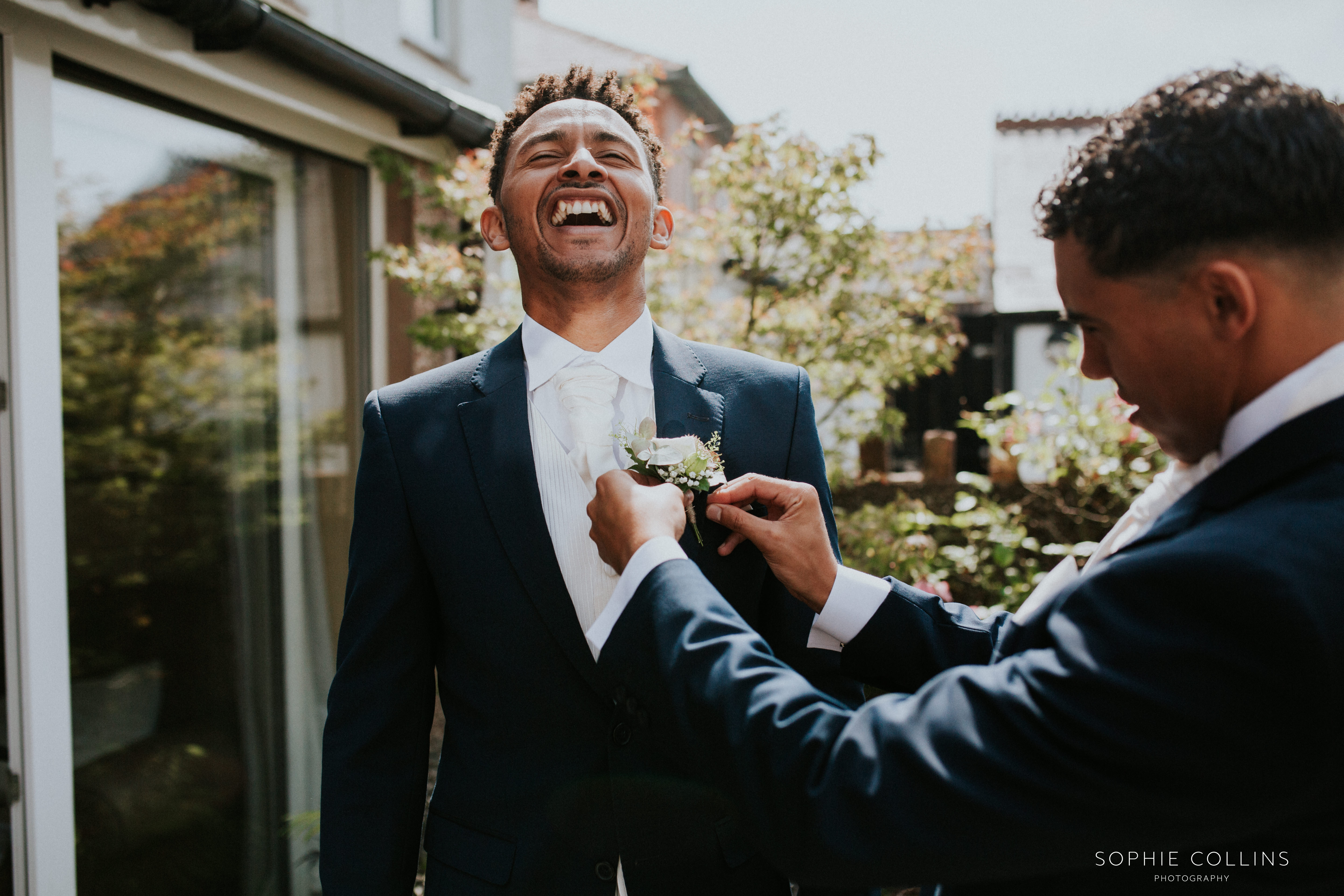 groom laughing