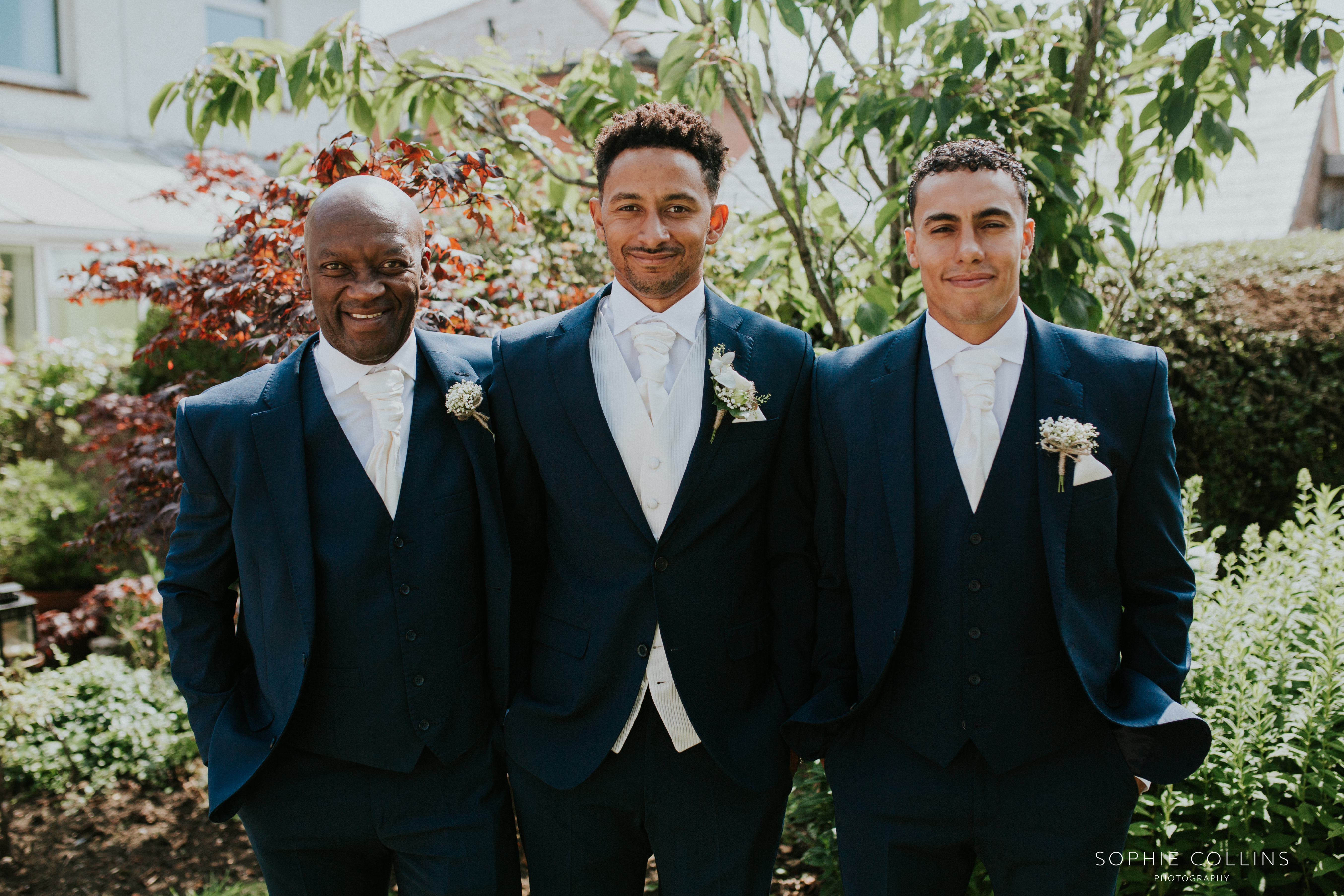 groom, dad and best man