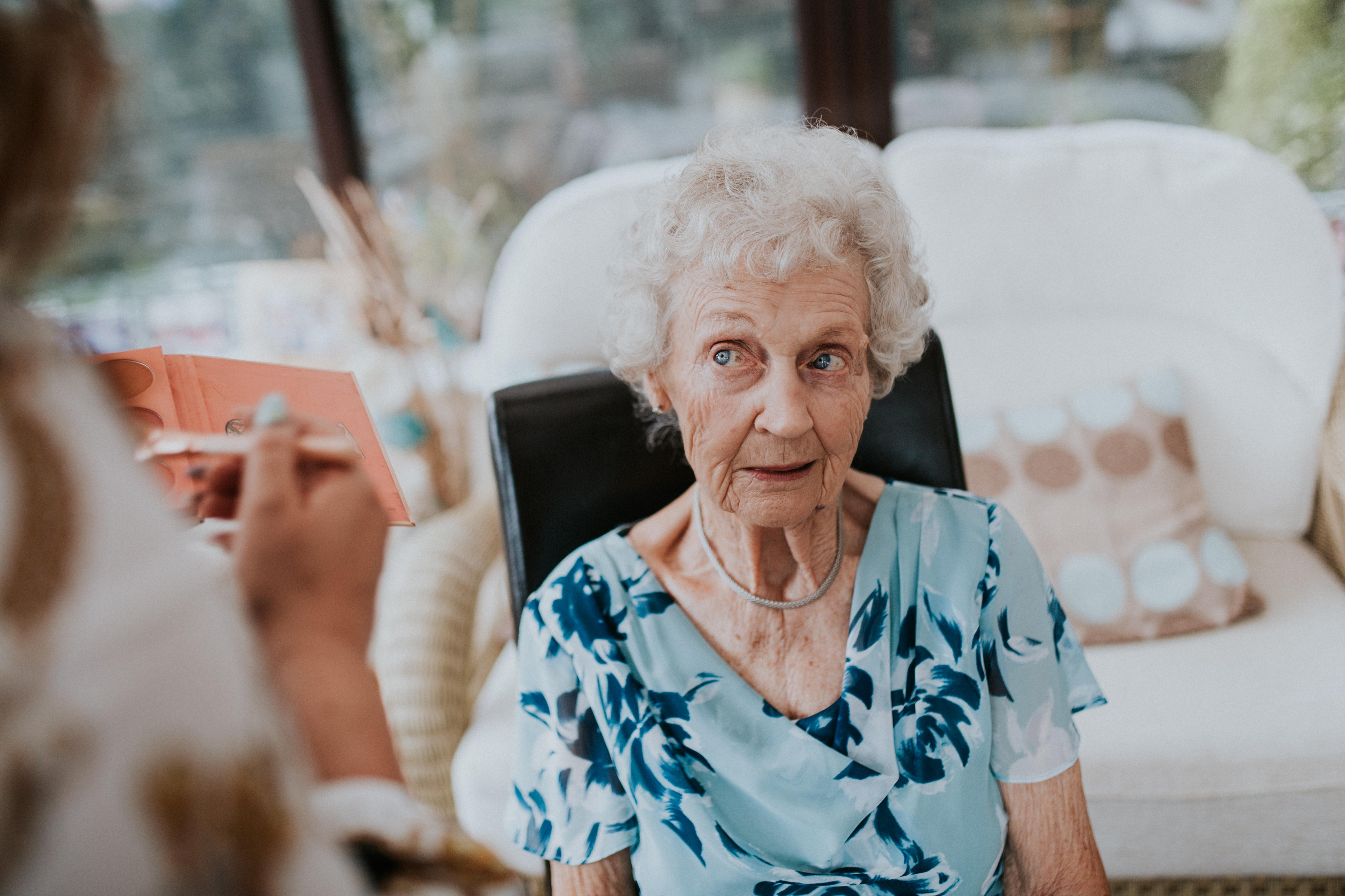 nan having her make-up done