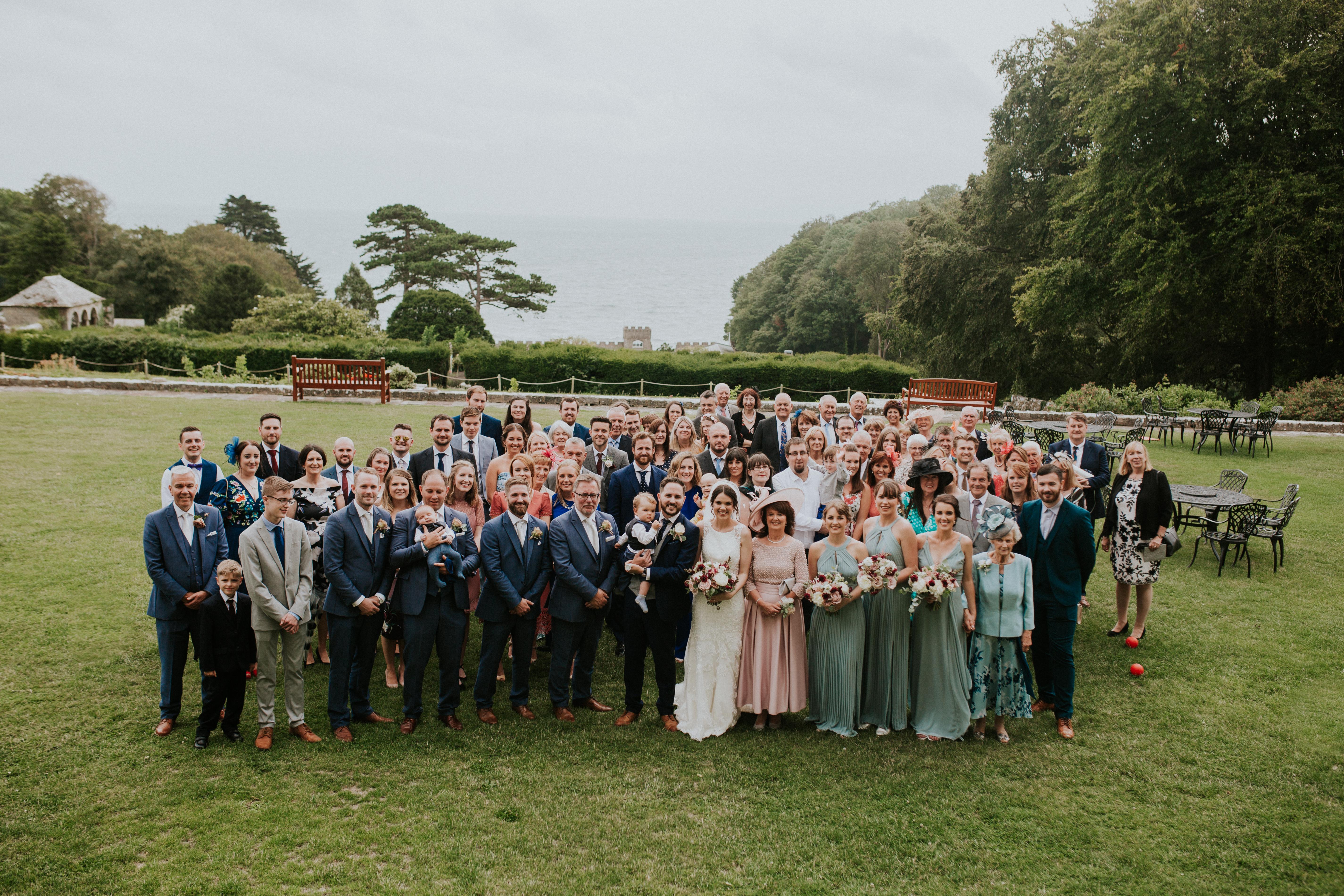 whole wedding group