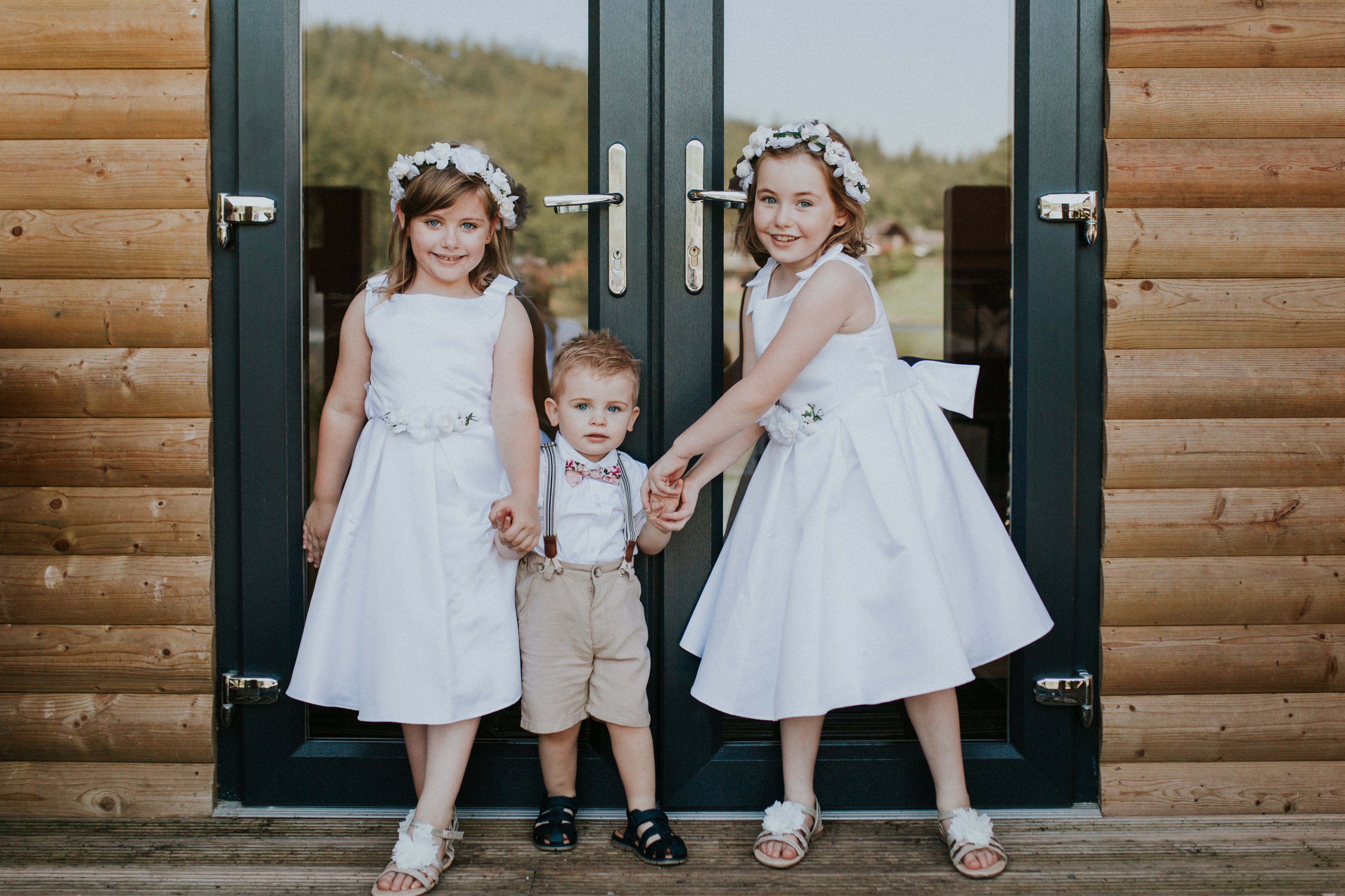flower girls and page boy