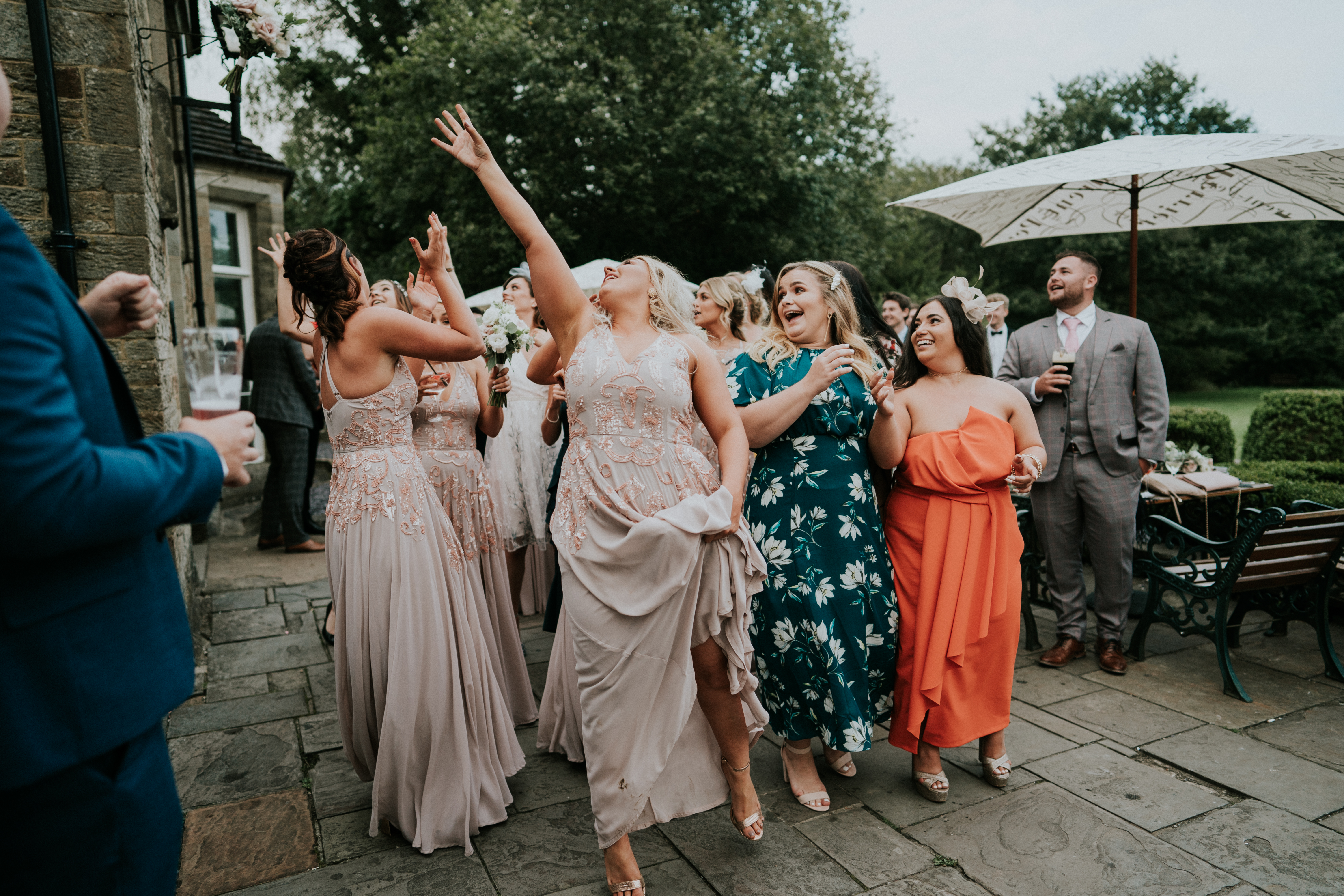 catching the bouquet